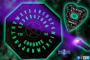 Glow in the Dark Ouija Spirit Board & UV Light Spirit, Ghost, Paranormal Oracle